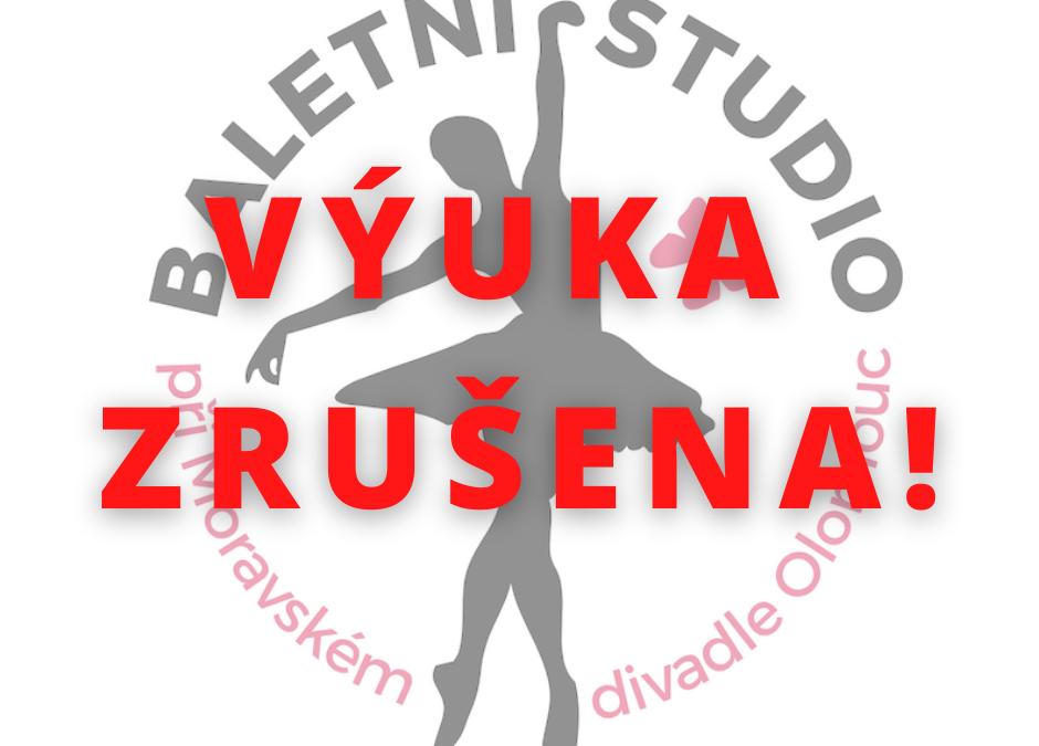 ZRUŠENÁ VÝUKA (12. – 25.10.)!